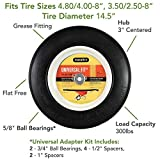 Universal Fit, Flat Free Wheelbarrow Tire and Wheel