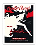Bal du Moulin Rouge - Paris, France - Watusi Dans Frénésie (in Frenzy) - Les 40 Doriss Girls - Moulin Rouge Cabaret - Vintage Theater Poster by René Gruau c.1970 - Fine Art Print - 11in x 14in