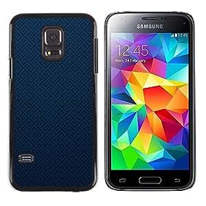 Be Good Phone Accessory // Dura Cáscara cubierta Protectora Caso Carcasa Funda de Protección para Samsung Galaxy S5 Mini, SM-G800, NOT S5 REGULAR! // Texture Blue