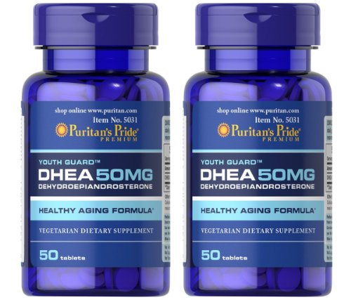 Fierté 2 Paquet de puritaine de DHEA 50 mg de Puritan Fierté DHEA 50 mg-50 Comprimés