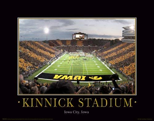 Iowa Hawkeye Football Motivational Poster Art Print 11x14 Nile Kinnick Stadium Herky (Iowa Art)