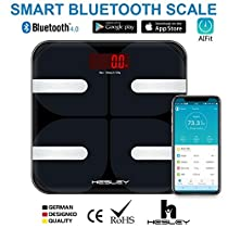 HESLEY FDA Approved Smart BMI Bluetooth Body Fat Scale with