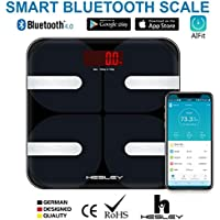 HESLEY FDA Approved Smart BMI Bluetooth Body Fat Scale with Smartphone App AIFit