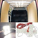led dome light for trucks - 12V 40 LEDs Van Interior Light Kits, Ampper LED Ceiling Lights Kit for Van Boats Caravans Trailers Lorries Sprinter Ducato Transit VW LWB (10 Modules, White)