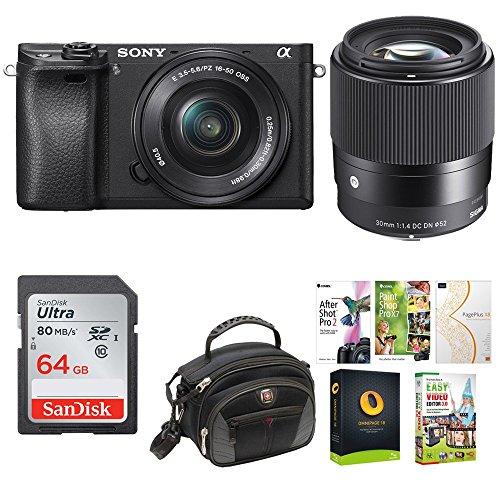 Sony Alpha a6300 Mirrorless Camera w/ 16-50mm f/3.5-5.6, 30m
