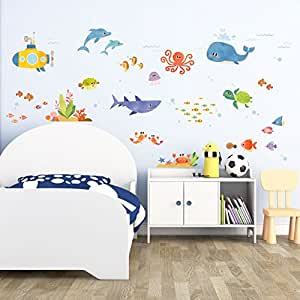 Decowall dat 1611 aventura en el mar vinilo pegatinas for Pegatinas pared dormitorio
