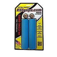 Sujetador de MTB ESI Grips Extra Chunky, Negro /Aqua