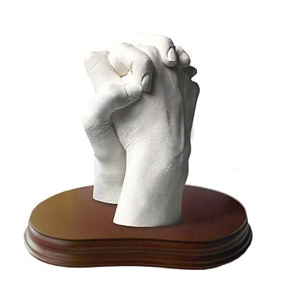 Escultura Realista De Las Manos En 3d Para Parejas Peana Incluida