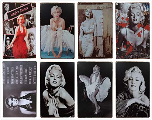 Marilyn Monroe Retro Tin Metal Sign 8pcs 30cm*20cm (7.87*11.81inch) -