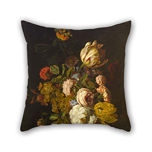 TonyLegner Oil Painting Stranover, Tobias - Still-Life with Flowers Throw Pillow Case 20 X 20 Inches / 50 by 50 cm Best Choice for Teens Boys Kids Girls Christmas Pub Bench Club with Twice Sides