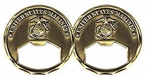 USMC United States Marine Corps Challenge Coin Bottle Opener
