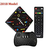 TV Box, H96 MAX Android 7.1 Box RK3328 Quad Core 4GB 32GB Supporting 4K (60Hz) Full HD /H.265 /Dual WiFi BT 4.1 Smart Media Player With H9 Wireless Keyboard