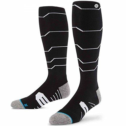 Stance Men's Baldface 2015 Snow Crew Socks, Black, Sock Size:10-13/Shoe Size: 6-12 by Stance