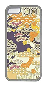 iPhone 5C Case, Customized Protective Soft TPU Clear Case for iphone 5C - Flower Backgroud 02 Cover