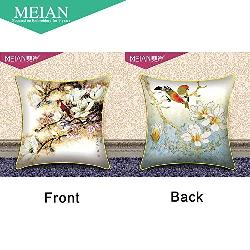 Cross Stitch -, Flowers & Birds 3D Double Cross Stitch Pillow Pillow Chinese Style Series Pillow Room/Home Decoration ()