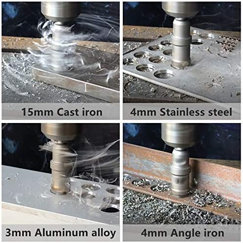 Hole Saw Hole Cutters 14-160mm TCT Hole Saw Drill Bit Alloy Carbide Cobalt Steel Cutter Stainless Steel Plate Iron Metal Cutting Kit for Opening (Hole Diameter : 115mm)