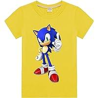 Silver Basic Camiseta Deportiva para Niños Inspirada en la Película Sonic The Hedgehog con Estampados Gráficos de Sonic…