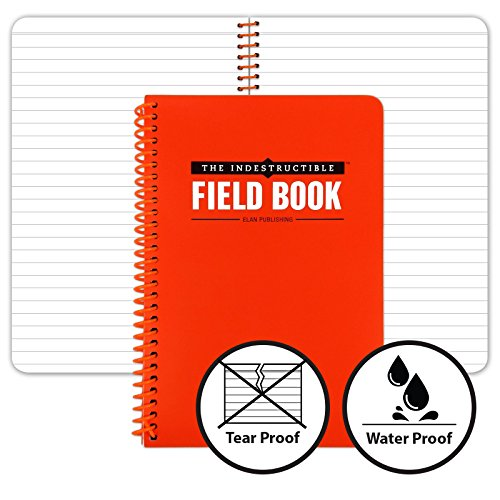 Water Resistant Notebook - The Indestructible Waterproof, Tearproof, Weatherproof Spiral Bound Field Notebook - 4.875