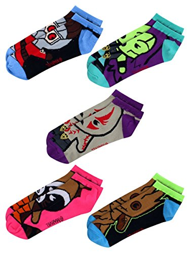 Marvel Guardians of The Galaxy Rocket Groot 5 Pack Ankle Socks from Hyp