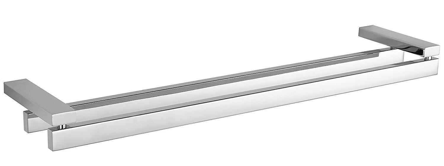 Enzo Contemporary Stainless Steel Double Towel Bar, Chrome by Cortesi Home  B00UIEP71U