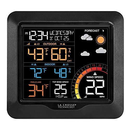 Q Gold Gifts - Reloj de Color con estación meteorológica de Velocidad del Viento