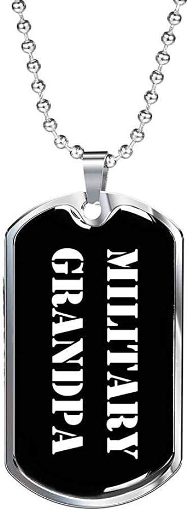 Luxury Dog Tag Necklace Unique Gifts Store Military Grandpa v3