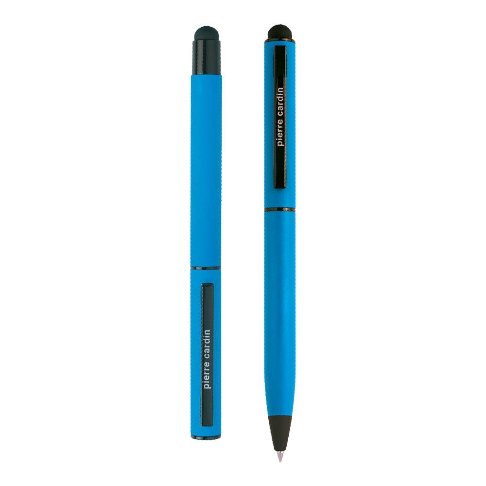 CelebrationSET hellblau Die Pen-s werden in einer Geschenkverpackung geliefert PIERRE CARDIN Schreib-set Tinten-roller Rollerball und Kugelschreiber in der Schreibfarbe blau mit Touch-Pen
