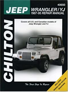Haynes jeep wranglar 87 03 manual 50030 aa 0038345017773 jeep wrangleryj 1987 95 chiltons total car care fandeluxe