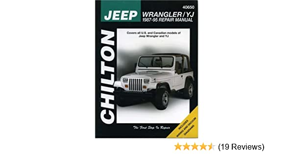 jeep wrangler yj 1987 95 chilton s total car care the chilton rh amazon com 1987 Jeep Wrangler 95 Wrangler Sahara