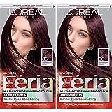 L'Oréal Paris Feria Multi-Faceted Shimmering Permanent Hair Color, Chocolate Cherry, 2 COUNT Hair Dye