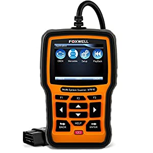 FOXWELL NT510 OBD2 Scanner Mercedes-Benz OBD II Code Reader ABS/SRS/EPB/Transmission Diagnostic Scan Tools with OIL Service Reset, ABS Reset Service Functions