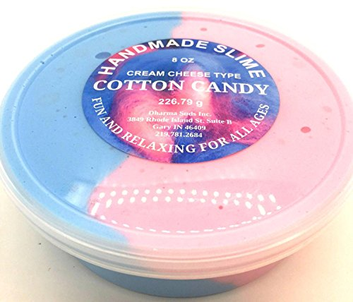 Candies Cream - Handmade Slime Cream Cheese type cotton candy scented 8 oz container