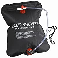 MeanHoo 20L/5gallon Camping Solar Shower Bag Portable Outdoor Camping Hiking Shower Showering Bag Heating Bag PVC Water Bag