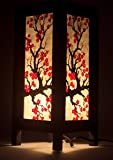 Japanese Sakura Flower Vintage Chiang Mai Thai Saa Paper Lantern Table Lamp xx