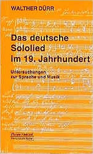 Das deutsche Sololied im 19. Jahrhundert: Untersuchungen zu Sprache und Musik (Taschenbücher zur Musikwissenschaft)