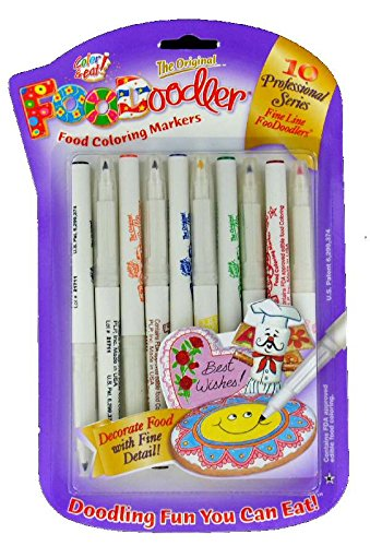 Amazon.com: FooDoodler Food Coloring Markers - 10 Colors - Kosher (1 ...