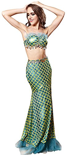 Ladies Sexy Maxi Long Mermaid Skirts Fish Tail Adult Womens Halloween Costume