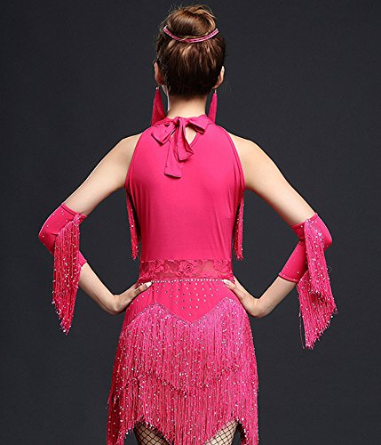 Cha whitewed Lessons Costumes Pink Salsa Dance Troupe Competition Latin Dress Party Rhythm Cha vEvq0wr