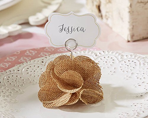 54 Burlap Rose Place Card Holders