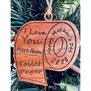 2021 Commemorative Mother's Day Toilet Paper Christmas Ornament