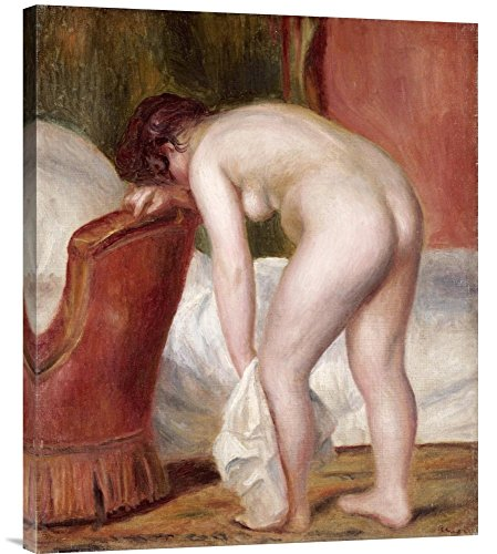 "Global Gallery GCS-267113-30-142 ""Pierre Auguste Renoir Female Nude Drying Herself"" Gallery Wrap Giclee on Canvas Wall Art Print"