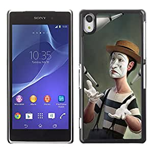 CaseCaptain Carcasa Funda Case - Sony Xperia Z2 / Funny Meme Clown Art /