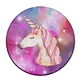 Be A Unicorn In A Field Of Horses Soft Coral Velvet Circular General Purpose Floor Mat Or Rug Use In Front Of Bedroom, Kitchen ,Vanity, Bath Tub, Living Room And Toilet