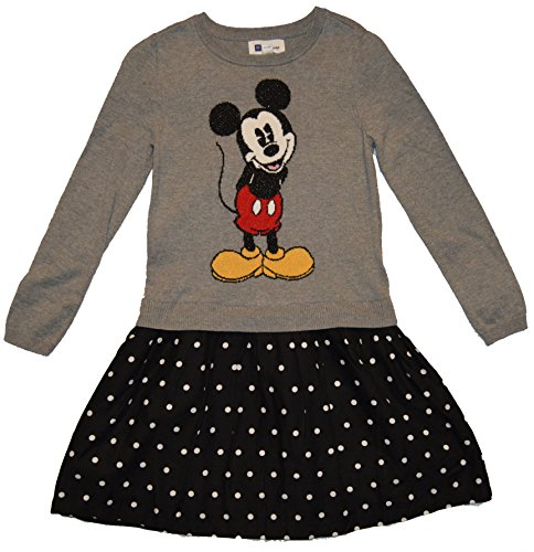 GAP Kids Girls Disney Mickey Mouse Sweater Polka Dot Dress Large ()