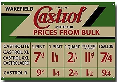 Castrol Advertisment Metal sign with enamelled finish