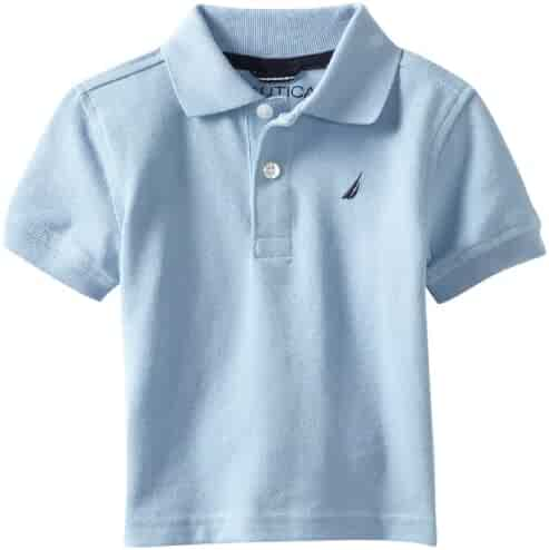 982f8df5d Nautica Sportswear Kids Baby Boys' Short Sleeve Solid Polo, Light Blue, 12  Months
