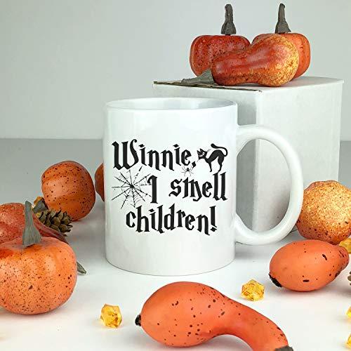 Winnie I Smell Children Ceramic Mug. Witch Mug. Happy Halloween Witches. Fall Mug. Coffee Mug. Funny Gift. Ceramic Halloween Mug. Funny. -