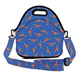 ART TANG Yellow Drone Pattern Lunch Bag Insulated Tote Handbag Lunchbox Food Container Gourmet Tote Cooler Warm Pouch with Shoulder Strap for Teens Kids Students Adults