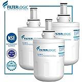 FilterLogic DA29-00003G Refrigerator Water Filter Replacement for Samsung DA29-00003G, DA29-00003B, DA29-00003A, HAFCU1 (Pack of 3)