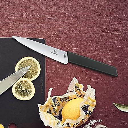 VICTORINOX Swiss Modern CUCH.Cocina Negro 6.9013.15B, Acero Inoxidable